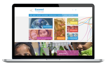 Exceed Academy Trust website