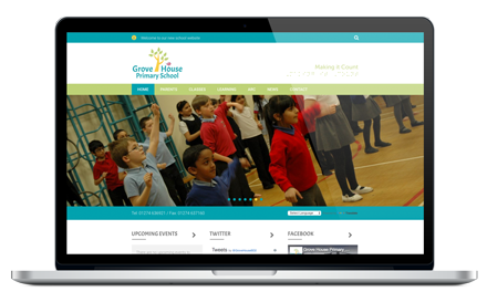 Grove House Primary School website